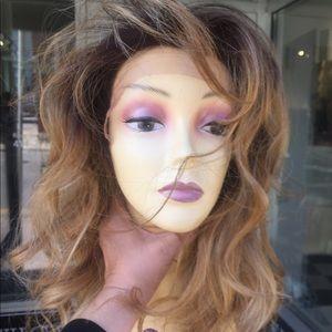 Wig Ombré Swisslace Lacefront Blonde Mix freepart